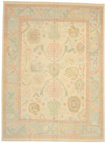 Oushak Rug 278X374 Authentic  Oriental Handknotted Dark Beige/Beige Large (Wool, Turkey)