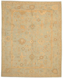 Oushak Rug 290X368 Authentic  Oriental Handknotted Light Brown/Light Green Large (Wool, Turkey)