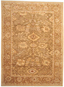 Oushak Rug 328X446 Authentic  Oriental Handknotted Light Brown/Brown/Dark Beige Large (Wool, Turkey)