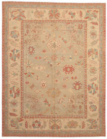 Oushak Rug 293X380 Authentic  Oriental Handknotted Light Brown/Dark Beige Large (Wool, Turkey)