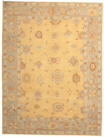 Oushak Rug 288X382 Authentic  Oriental Handknotted Light Brown/Yellow Large (Wool, Turkey)