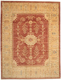 Oushak Rug 380X493 Authentic  Oriental Handknotted Light Brown/Rust Red Large (Wool, Turkey)