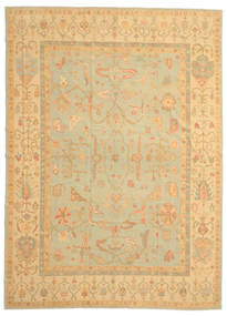 Oushak Rug 258X358 Authentic  Oriental Handknotted Light Brown/Dark Beige Large (Wool, Turkey)