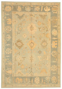 Oushak Rug 267X385 Authentic  Oriental Handknotted Light Brown/Yellow Large (Wool, Turkey)