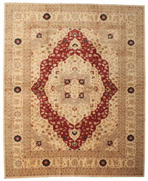 Ziegler Rug 376X462 Authentic  Oriental Handknotted Light Brown/Rust Red Large (Wool, Pakistan)