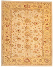 Usak Matto 303X385 Itämainen Käsinsolmittu Vaaleanruskea/Tummanbeige Isot (Villa, Turkki)