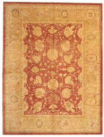 Usak Teppich 312X412 Echter Orientalischer Handgeknüpfter Hellbraun Großer (Wolle, Türkei)