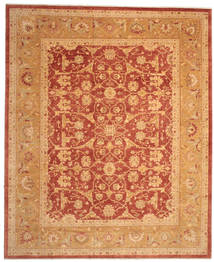 Oushak Rug 382X463 Authentic  Oriental Handknotted Light Brown/Crimson Red Large (Wool, Turkey)