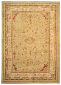 Oushak Rug 384X540 Authentic  Oriental Handknotted Light Brown Large (Wool, Turkey)