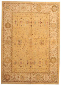 Oushak Rug 278X390 Authentic  Oriental Handknotted Light Brown/Brown Large (Wool, Turkey)