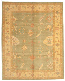 Oushak Rug 290X363 Authentic  Oriental Handknotted Light Brown/Yellow Large (Wool, Turkey)
