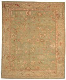 Oushak Rug 360X440 Authentic  Oriental Handknotted Light Brown/Dark Beige Large (Wool, Turkey)