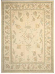 Oushak Rug 387X522 Authentic  Oriental Handknotted Beige/Dark Beige Large (Wool, Turkey)