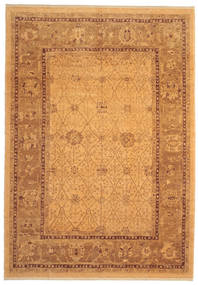 Oushak Rug 274X390 Authentic  Oriental Handknotted Light Brown/Brown Large (Wool, Turkey)