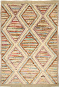 Barchi/Moroccan Berber Matto 192X284 Moderni Käsinsolmittu Vaaleanruskea/Tummanbeige (Villa, Afganistan)