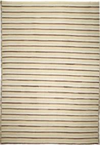 Kelim Ariana Vloerkleed 339X469 Echt Modern Handgeweven Beige/Donkerbeige Groot (Wol, Afghanistan)