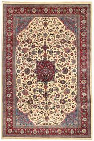 Mashad Teppe 200X310 Ekte Orientalsk Håndknyttet Beige/Mørk Rød (Ull, Persia/Iran)