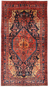 Nahavand Rug 148X276 Authentic Oriental Handknotted Dark Red/Brown (Wool, Persia/Iran)