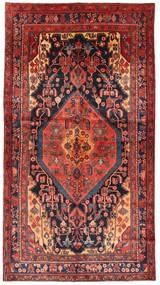 Nahavand Teppe 148X276 Ekte Orientalsk Håndknyttet Mørk Rød/Brun (Ull, Persia/Iran)