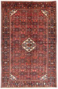 Hosseinabad Matta 146X229 Äkta Orientalisk Handknuten Brun/Mörkblå (Ull, Persien/Iran)