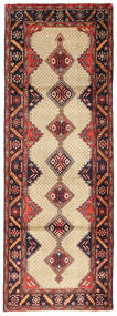 Koliai Rug 96X281 Authentic  Oriental Handknotted Hallway Runner  Dark Brown/Brown (Wool, Persia/Iran)