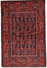 Nahavand Rug 141X211 Authentic Oriental Handknotted Dark Blue/Dark Red (Wool, Persia/Iran)