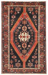 Nahavand Matto 139X228 Itämainen Käsinsolmittu Musta/Ruskea (Villa, Persia/Iran)