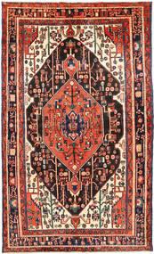 Nahavand Covor 146X255 Orientale Lucrat Manual Maro/Roșu-Închis (Lână, Persia/Iran)