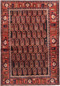 Nahavand Rug 137X207 Authentic  Oriental Handknotted Dark Red/Dark Green/Brown (Wool, Persia/Iran)