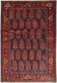 Nahavand Rug 136X202 Authentic  Oriental Handknotted Dark Red/Dark Green (Wool, Persia/Iran)