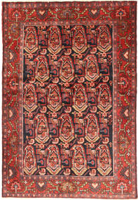 Nahavand Rug 140X206 Authentic  Oriental Handknotted Brown/Dark Red (Wool, Persia/Iran)