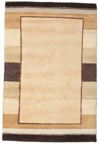 Gabbeh Indiaas Vloerkleed 125X189 Echt Modern Handgeknoopt Donkerbeige/Lichtbruin (Wol, India)