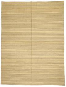 Kelim Modern Teppich  214X285 Echter Moderner Handgewebter Gelb/Hellbraun (Wolle, Afghanistan)
