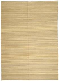 Kelim Moderne Teppe 206X287 Ekte Moderne Håndvevd Lysbrun/Gul (Ull, Afghanistan)