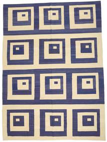 Kelim Moderni Matto 209X288 Moderni Käsinkudottu Tummanvioletti/Beige (Villa, Afganistan)