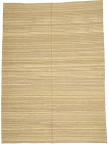Kelim Modern Teppich  205X280 Echter Moderner Handgewebter Hellbraun/Gelb/Hell Grün (Wolle, Afghanistan)