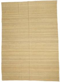Kelim Modern Teppich  204X284 Echter Moderner Handgewebter Hellbraun/Gelb (Wolle, Afghanistan)