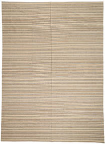 Kilim Modern Rug 246X341 Authentic  Modern Handwoven Light Brown (Wool, Afghanistan)