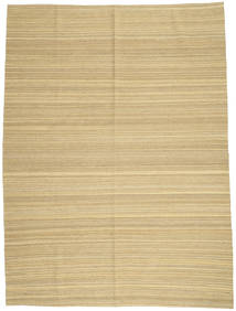 Kilim Modern Rug 210X281 Authentic  Modern Handwoven Light Brown/Yellow (Wool, Afghanistan)