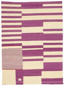 Kilim Modern Rug 125X172 Authentic  Modern Handwoven Pink/Beige (Wool, Afghanistan)