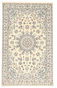 Nain 6La Habibian Matta 102X162 Äkta Orientalisk Handknuten Beige/Ljusbrun (Ull/Silke, Persien/Iran)