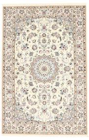 Nain 6La Teppe 100X152 Ekte Orientalsk Håndknyttet Beige/Lysbrun (Ull/Silke, Persia/Iran)