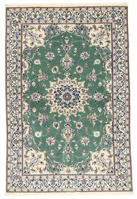 Nain 6La Rug 101X152 Authentic  Oriental Handknotted Beige/Dark Grey (Wool/Silk, Persia/Iran)