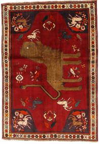 Qashqai Rug 131X192 Authentic  Oriental Handknotted Rust Red/Dark Red (Wool, Persia/Iran)