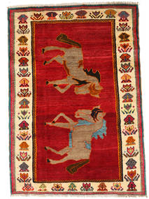 Qashqai Rug 107X150 Authentic  Oriental Handknotted Rust Red/Crimson Red (Wool, Persia/Iran)