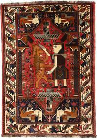 Ghashghai Vloerkleed 118X170 Echt Oosters Handgeknoopt Donkerbruin/Roestkleur (Wol, Perzië/Iran)