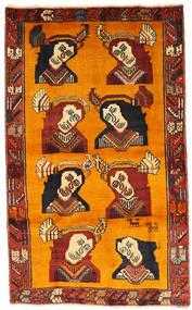 Ghashghai Matto 102X170 Itämainen Käsinsolmittu Oranssi/Tummanruskea (Villa, Persia/Iran)