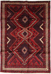 Lori Vloerkleed 174X254 Echt Oosters Handgeknoopt Zwart/Donkerrood (Wol, Perzië/Iran)