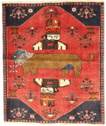 Qashqai Rug 120X145 Authentic  Oriental Handknotted Orange/Rust Red (Wool, Persia/Iran)