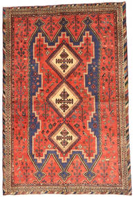 Afshar Rug 152X229 Authentic Oriental Handknotted Orange/Rust Red (Wool, Persia/Iran)